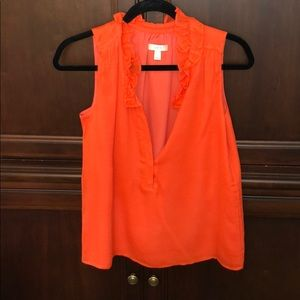 Size 4 JCrew Sleeveless Blouse Orange